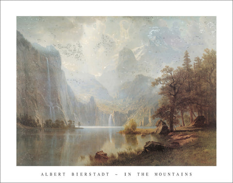 B107 - Bierstadt, In The Mountains, 22 x 28