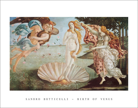 B111 - Botticell,Birth of Venus, 22 x 28