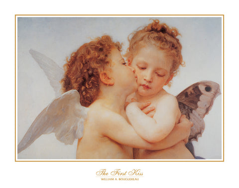 B6295 - Bouguereau,The First Kiss 1890, 22 x 28