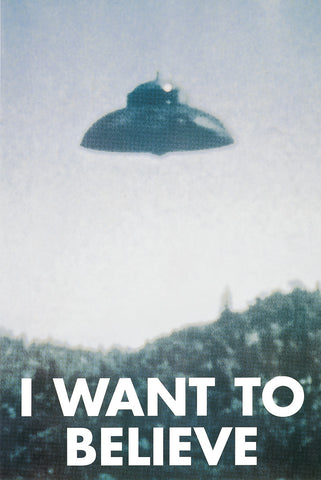 BLC4062 I Want to Believe 24in x 36in