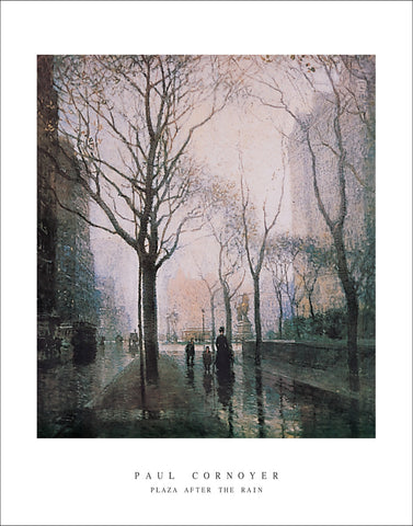 C301 - Cornoyer, Plaza after the Rain, 22 x 28