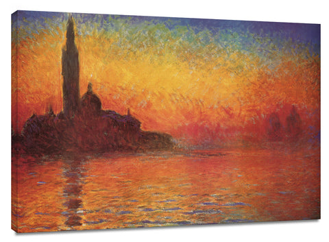 CNV214 - Monet - Dusk in Venice, 24 x 36