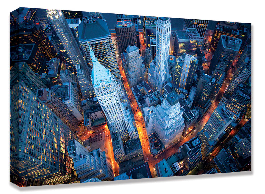 CNV236 Aerial view of Wall Street  24x36