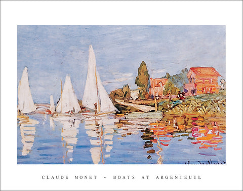 M127 - Monet - Boats at Argenteuil, 22 x 28