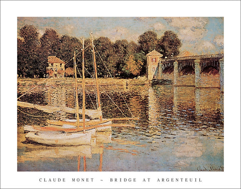 M129 - Monet - Bridge at Argenteuil, 22 x 28