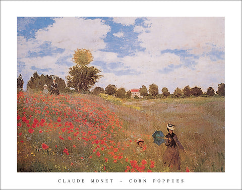 M131 - Monet - Corn Poppies 1873, 22 x 28