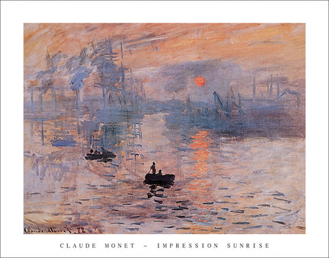 M204 - Monet - Impression Sunrise, 22 x 28