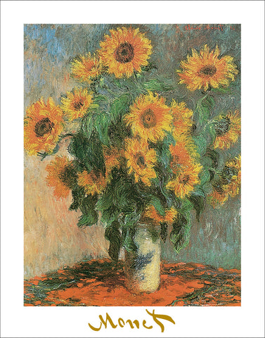 M3870 - Monet - Sunflowers 1881, 22 x 28
