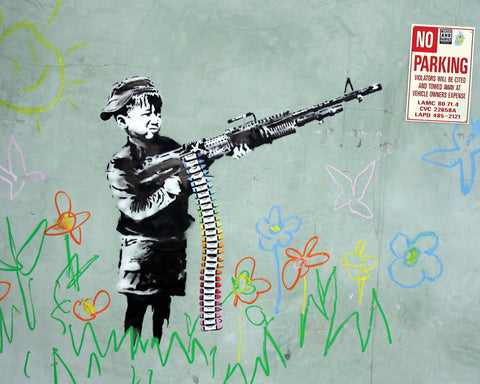 MP785 Banksy No Parking 16in x 20in