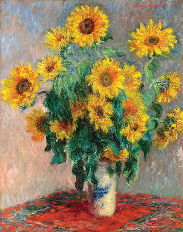 PM697 - Monet - Sunflowers, 11 x 14