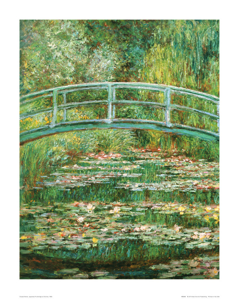 NY378 - Monet - Japanese Footbridge, 16 x 20