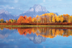 NY845 - Mount Moran, Grand Teton National Park - Wyoming, 24 x 36