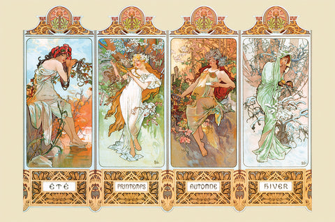 NY875 - The Four Seasons, 24 x 36