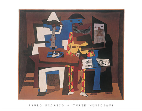 P126 - Picasso, Three Musicians, 22 x 28