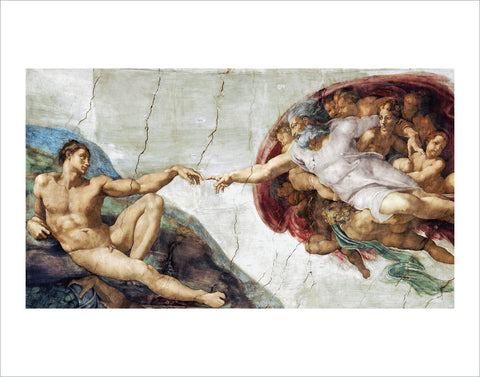 PM856 - Michelangelo - The Creation of Adam, 11 x 14