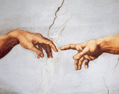 PM857 - Michelangelo - The Creation of Adam (Detail), 11 x 14