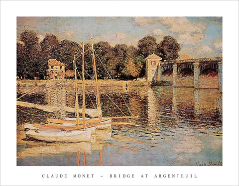 PM991 - Monet - Bridge at Argenteuil, 11 x 14