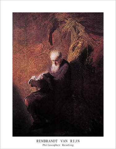 PR702 - Rembrandt - Philosopher Reading,  11 x 14