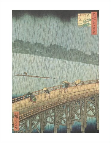 PU922 - Hiroshige, Sudden Shower over Ohashi and Atake, 11 x 14