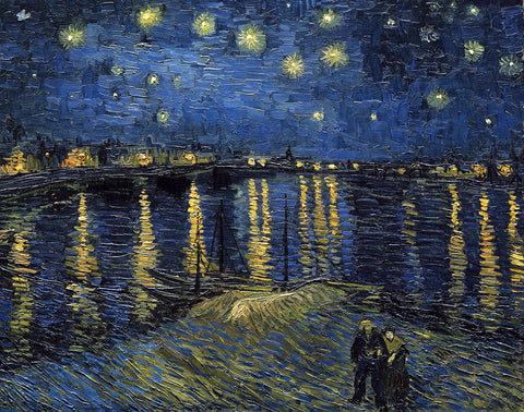 PV133 - Van Gogh, Starlight over the Rhone, 11 x 14