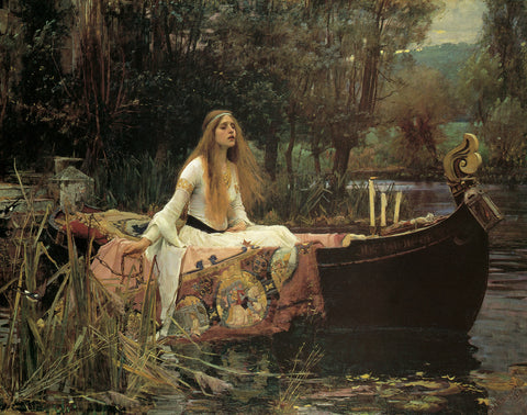 PW386 - Waterhouse, The Lady of Shalott, 11 x 14