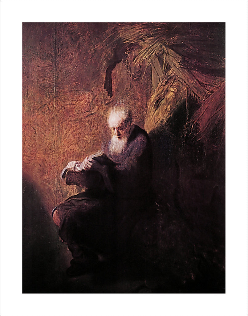 R107 - Rembrandt - Philosopher Reading, 22 x 28