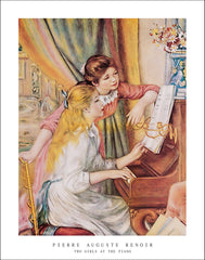R126 - Renoir - Two Girls at the Piano, 22 x 28