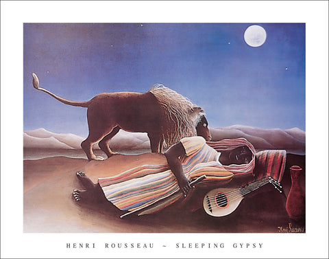 R130 - Rousseau - Sleeping Gypsy, 22 x 28