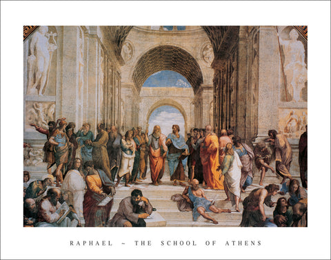 R602 - Raphael - The School of Athens, 22 x 28