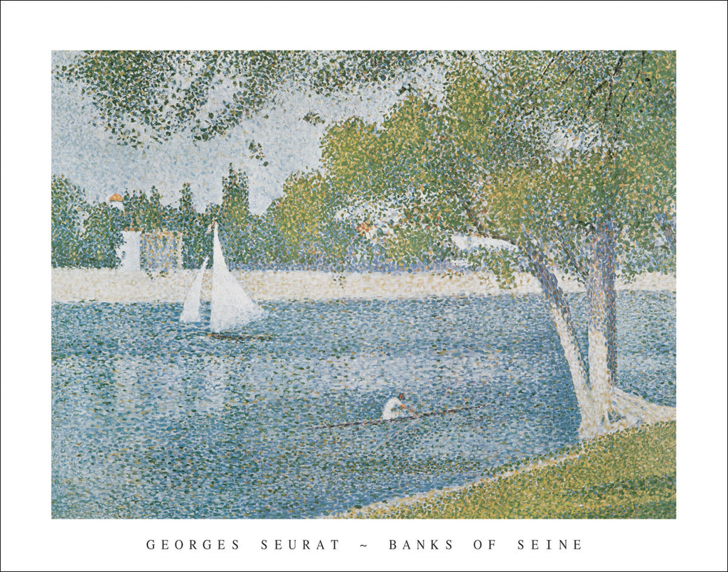 S103 - Seurat - Banks of the Seine, 22 x 28