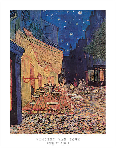 V108 - Van Gogh - Cafe at Night, 22 x 28