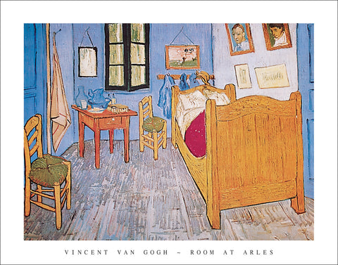 V110 - Van Gogh - Room at Arles, 22 x 28