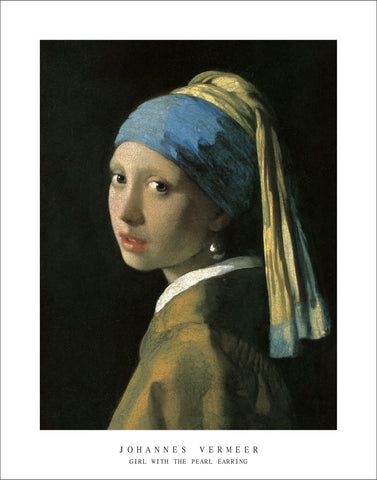 V122 - Vermeer - Head of a Girl, 22 x 28