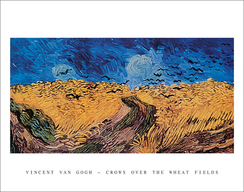 V201 - Van Gogh - Crows over the Wheat Fields, 22 x 28