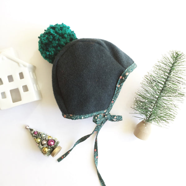 SOLD OUT - Forest Spruce Pom Bonnet