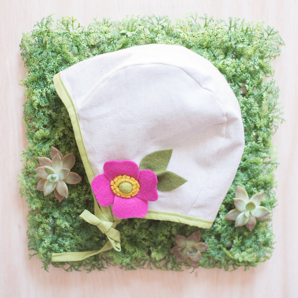 SOLD OUT Brimless Bonnet- Fuchsia