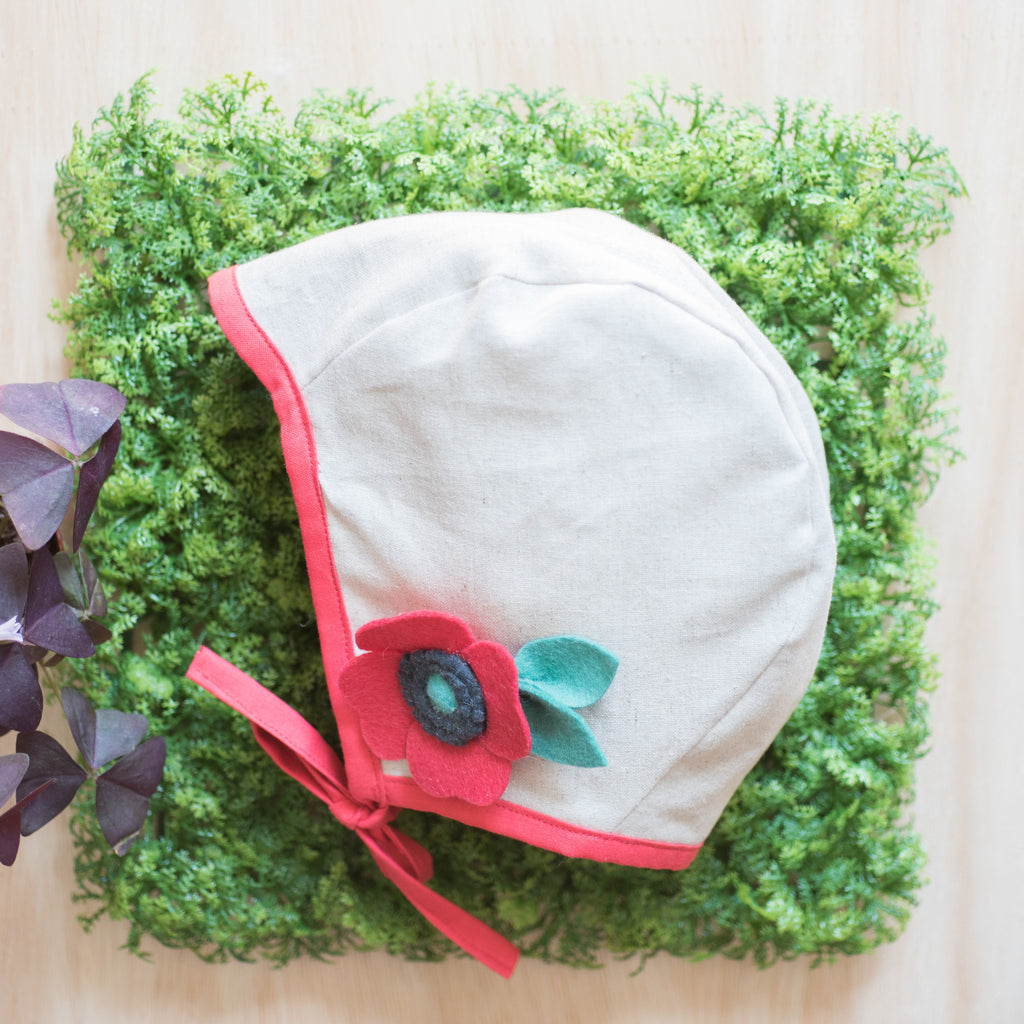 SOLD OUT Brimless bonnet - Poppy