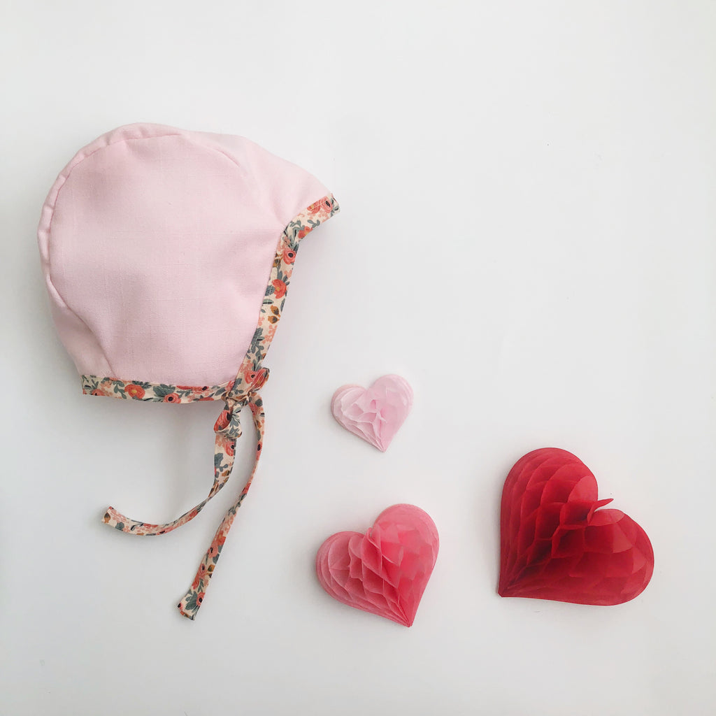 Reversible Bonnet- Blush Linen