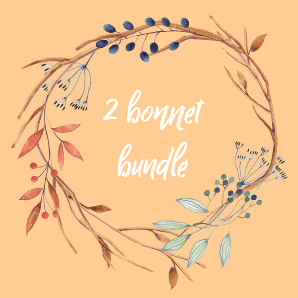 TWO BONNET BUNDLE- FAWN/WOLF/or BAT