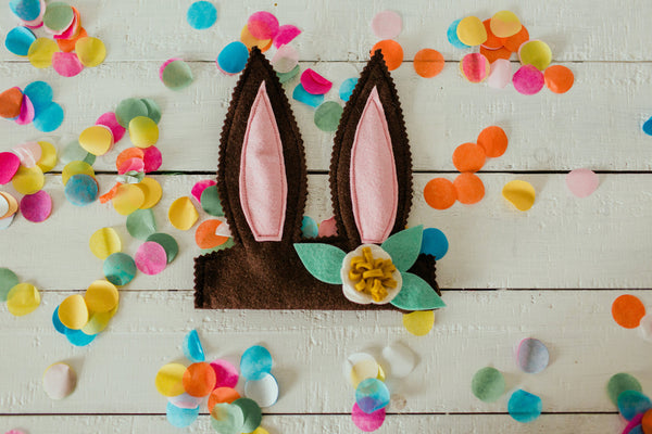 Chocolate Bunny Ears Headband