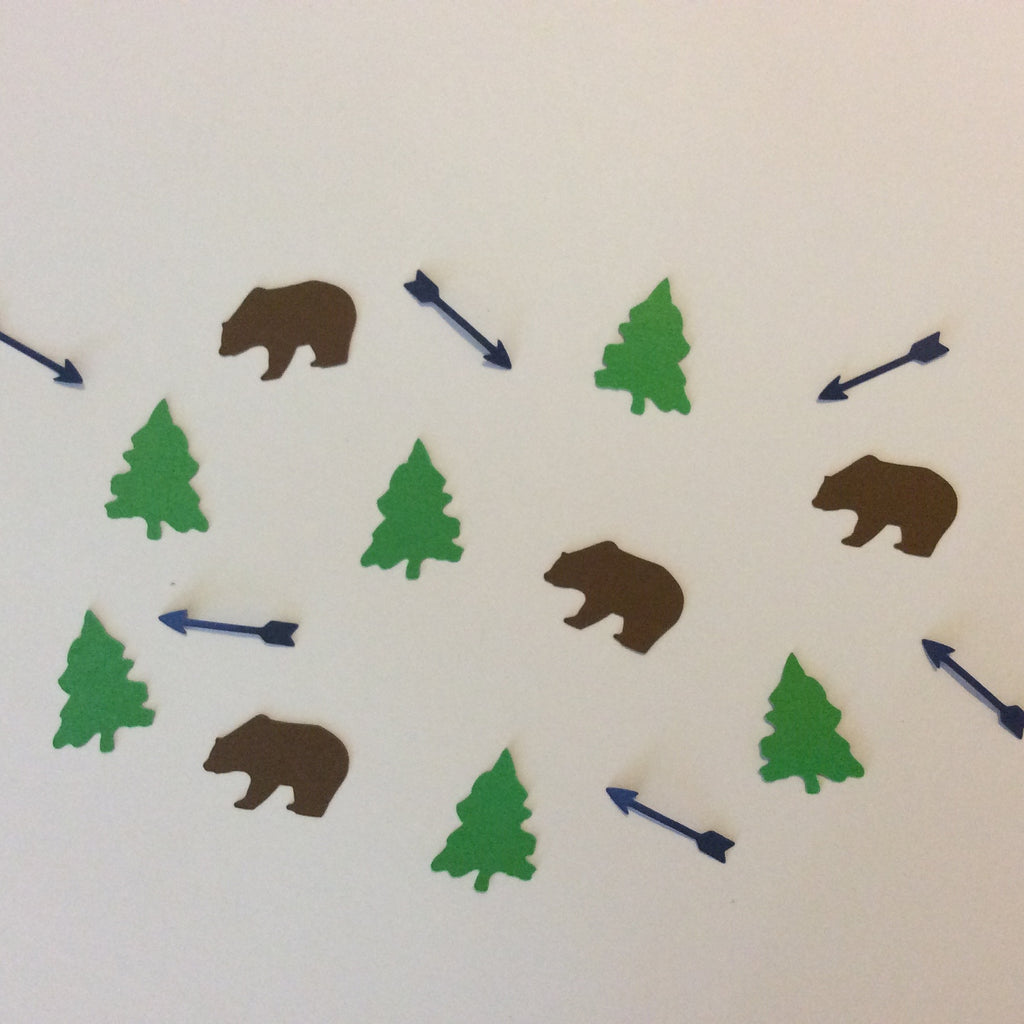 Bear, Tree, Arrow, Confetti, Party Supplies, NatureCuts