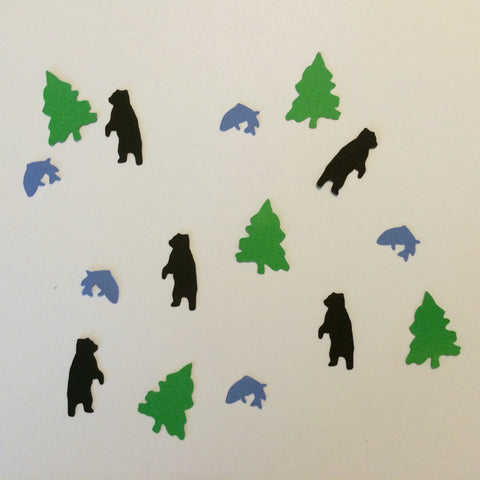 Bear, Fish, Tree, Confetti, Party Supplies, NatureCuts