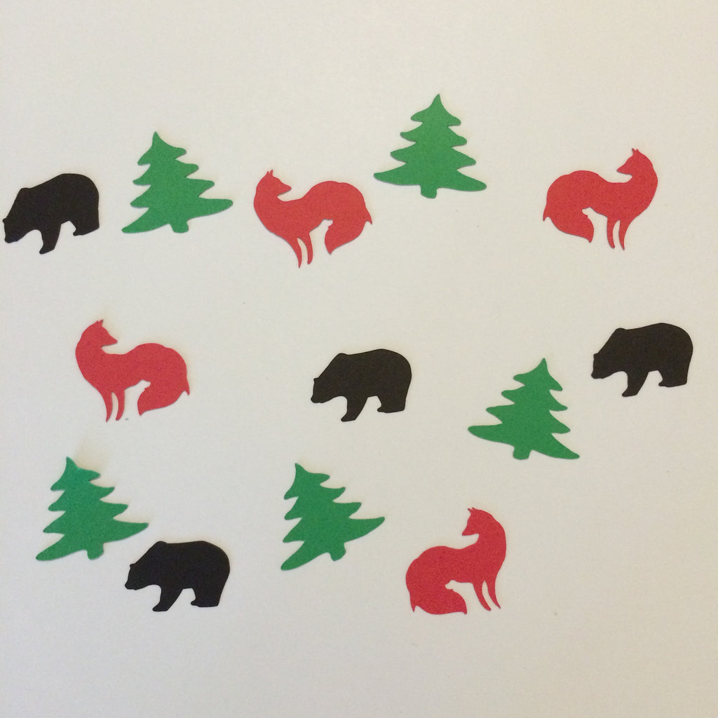 Fox, Bear, Tree, Confetti, Party Supplies, NatureCuts