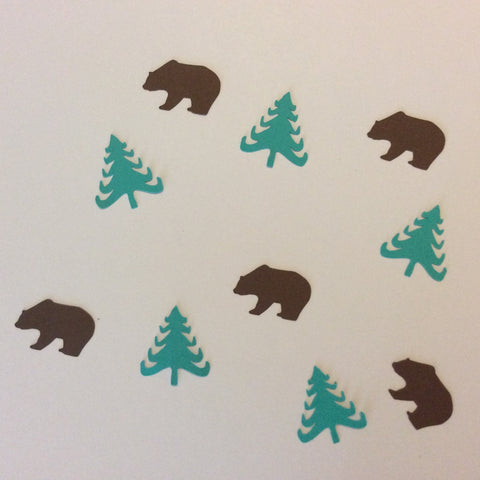 Bear, Folk Tree, Confetti, Party Supplies, NatureCuts