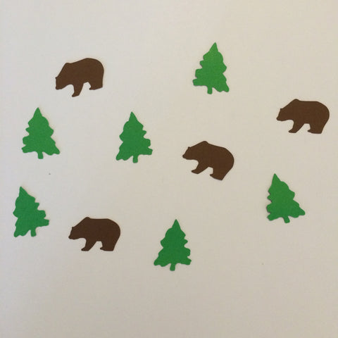 Bear, Tree, Confetti, Party Supplies, Naturecuts