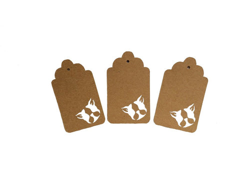 Boston Terrier Face Tags