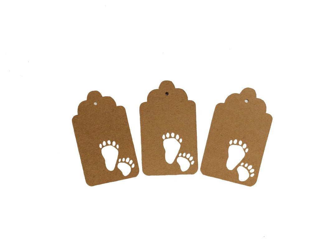 Brown Bear Tracks, Bear, Animal, Tag, Gift Tag, NatureCuts