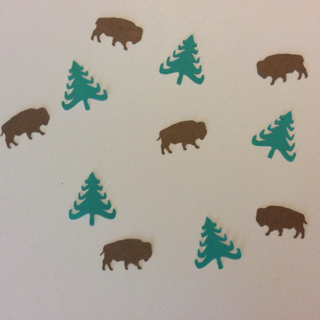 Buffalo, Bison, Folk Tree, Confetti, Party Supplies, NatureCuts