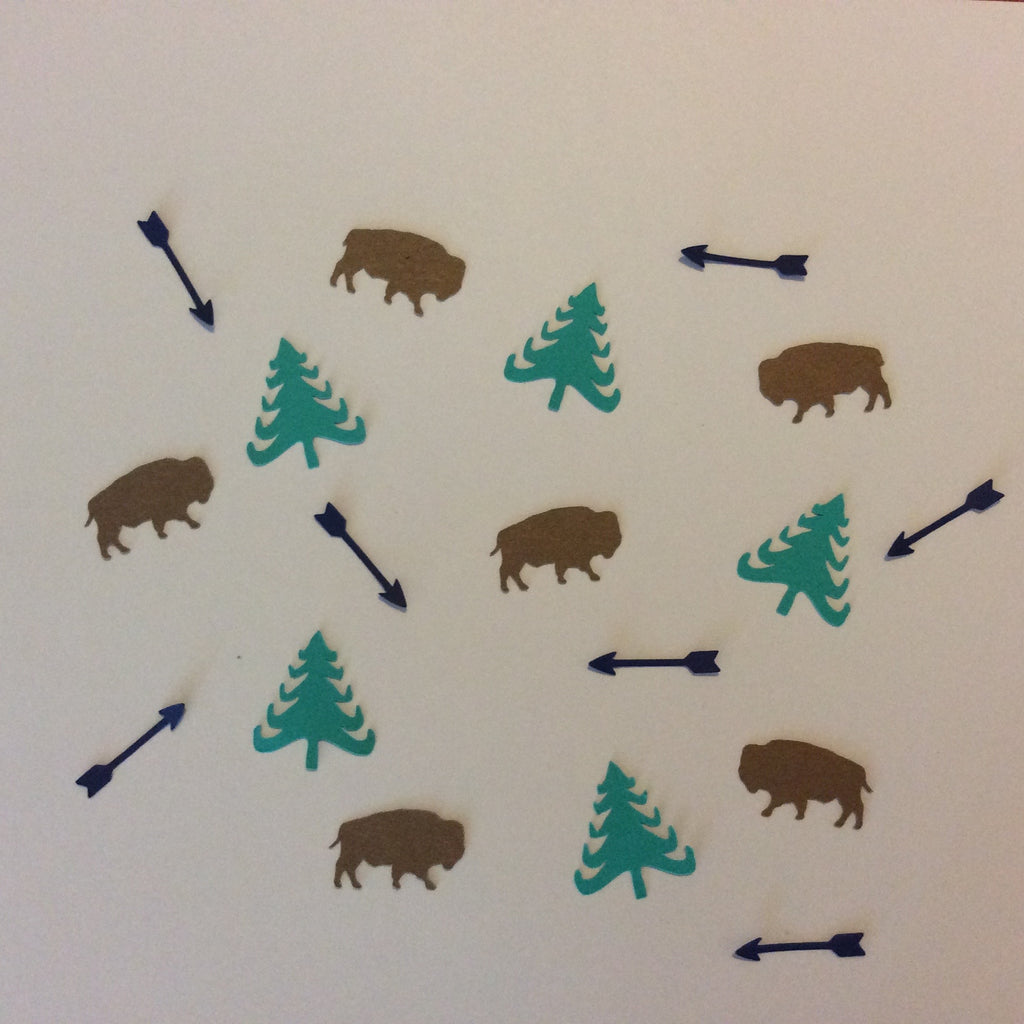 Buffalo, Bison, Arrow, Tree, Confetti, NatureCuts