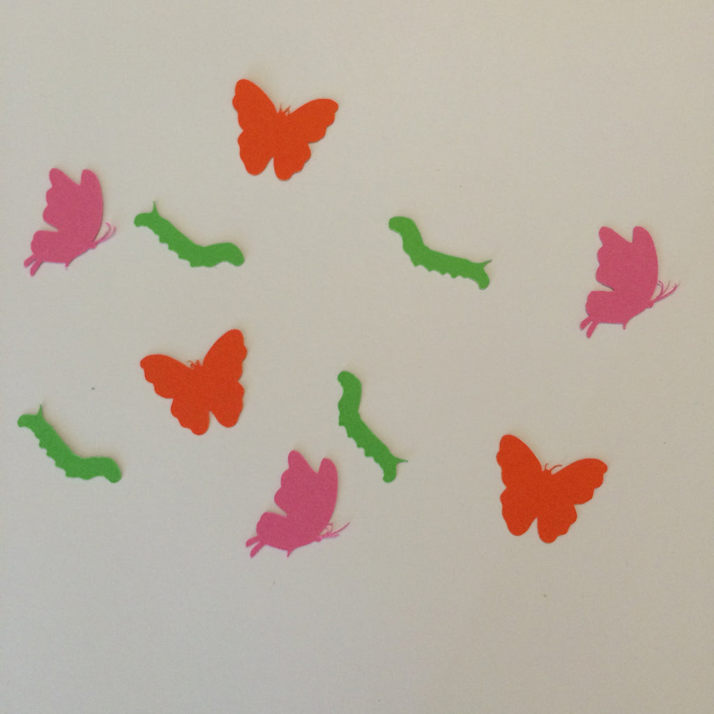 Caterpillar, Butterfly, Confetti, Party Supplies, NatureCuts